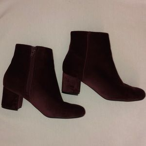 CALL IT SPRING. SOFT VELVET ankle boots